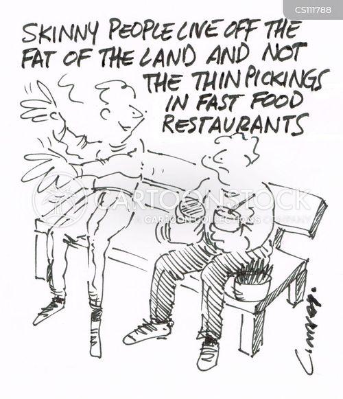 junk food restaurants cartoon