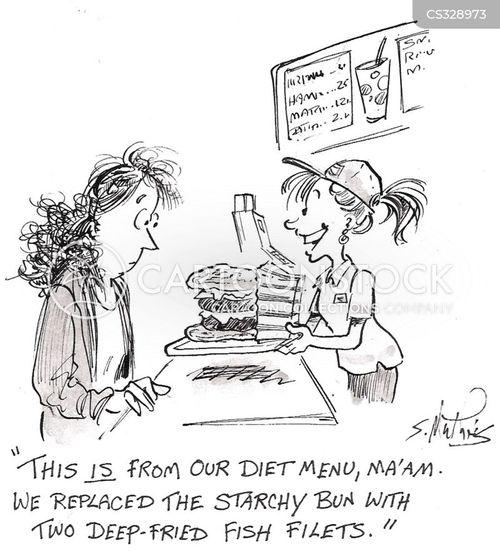 diet menus cartoon