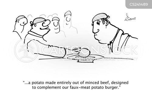 minced beef cartoon
