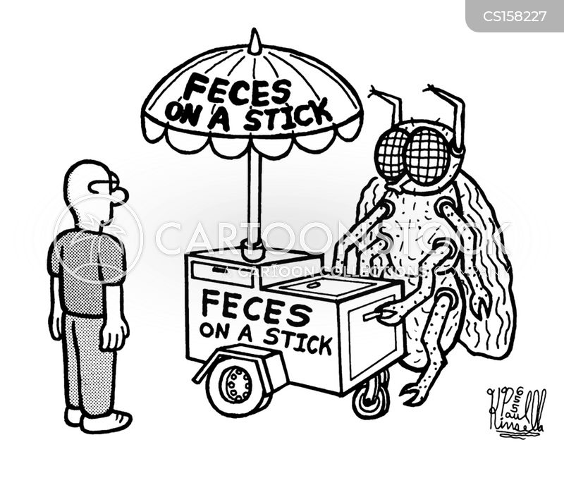 feces cartoon