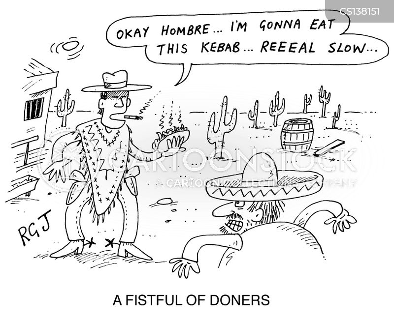 doner kebab cartoon