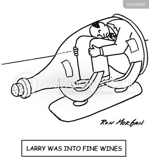 wine cellar cartoon