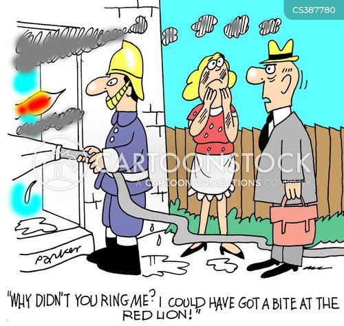 house fires cartoon