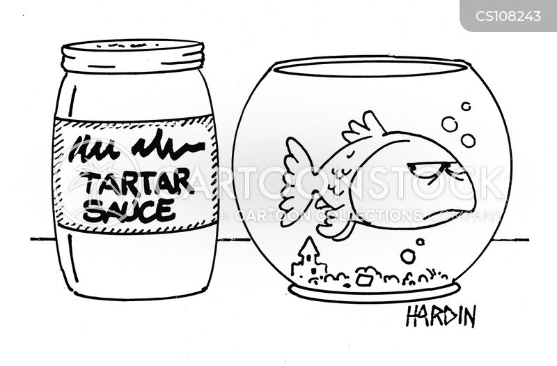 tartar sauce cartoon