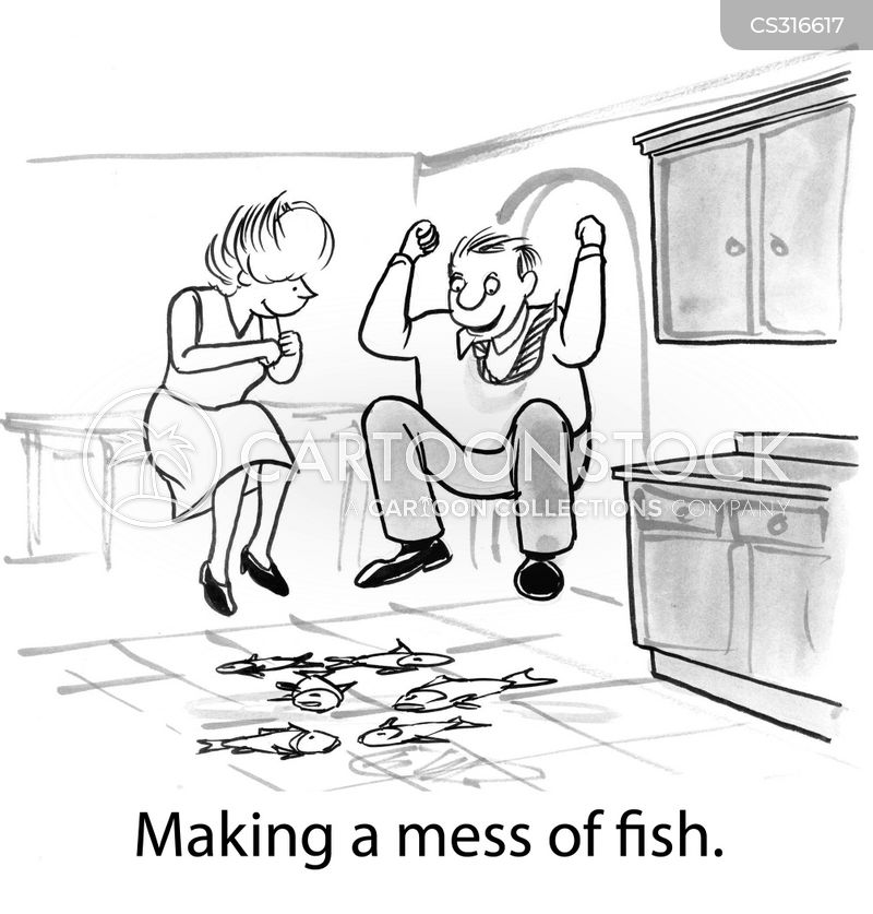 messy foods cartoon