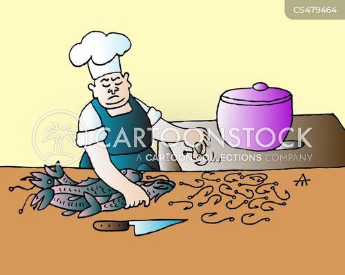 food preparations cartoon