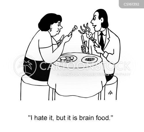 brain food cartoon