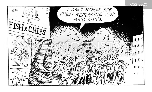fish and chip shops cartoon