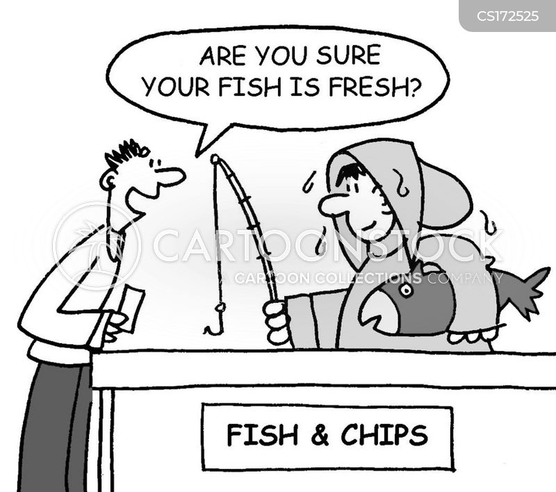 fish and chips cartoon