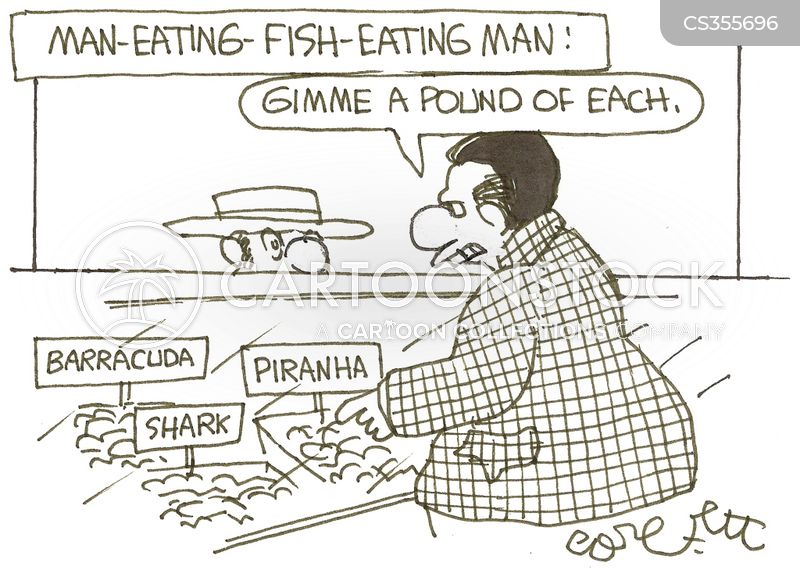 fish markets cartoon