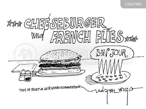 french fly cartoon