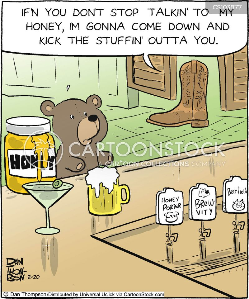honey drinks cartoon