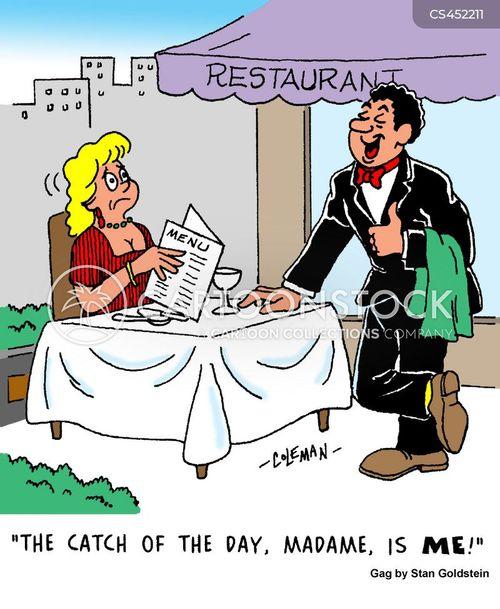 waiting tables cartoon