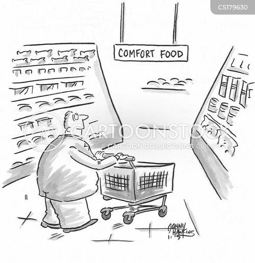 comfort food cartoon