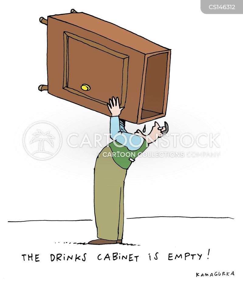 drinking cabinets cartoon