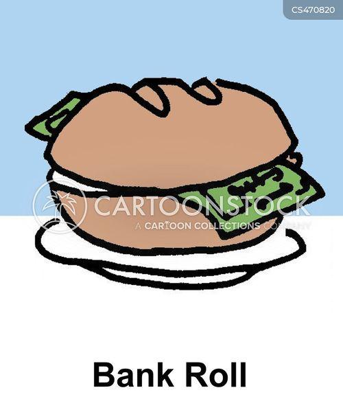 Bank Roll Cartoons And Comics