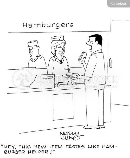 ham burger cartoon