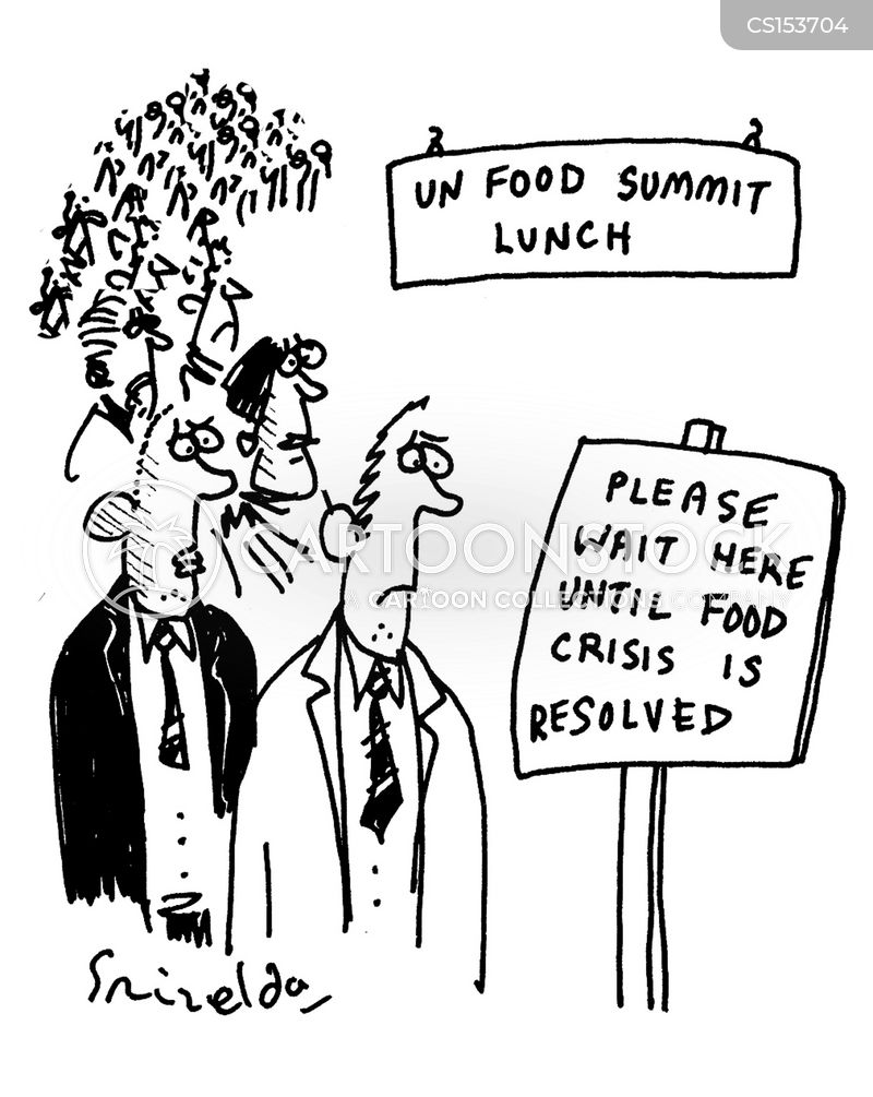 food crisis cartoon