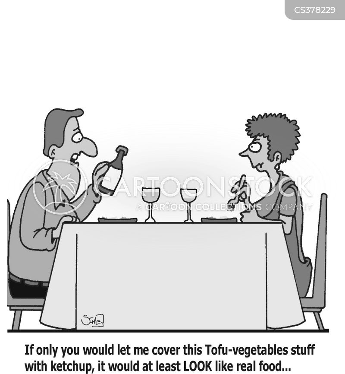 fancy food cartoon