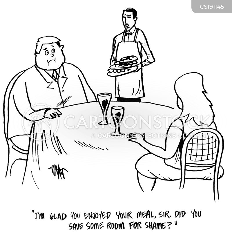 food servers cartoon
