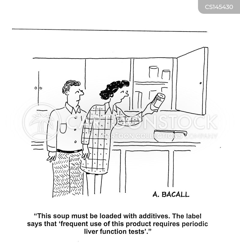 food preservative cartoon