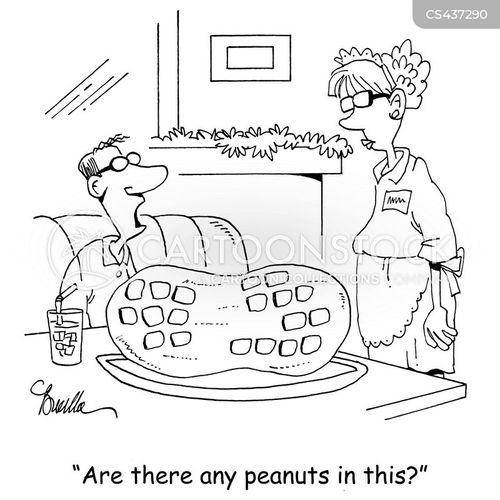 nut allergy cartoon
