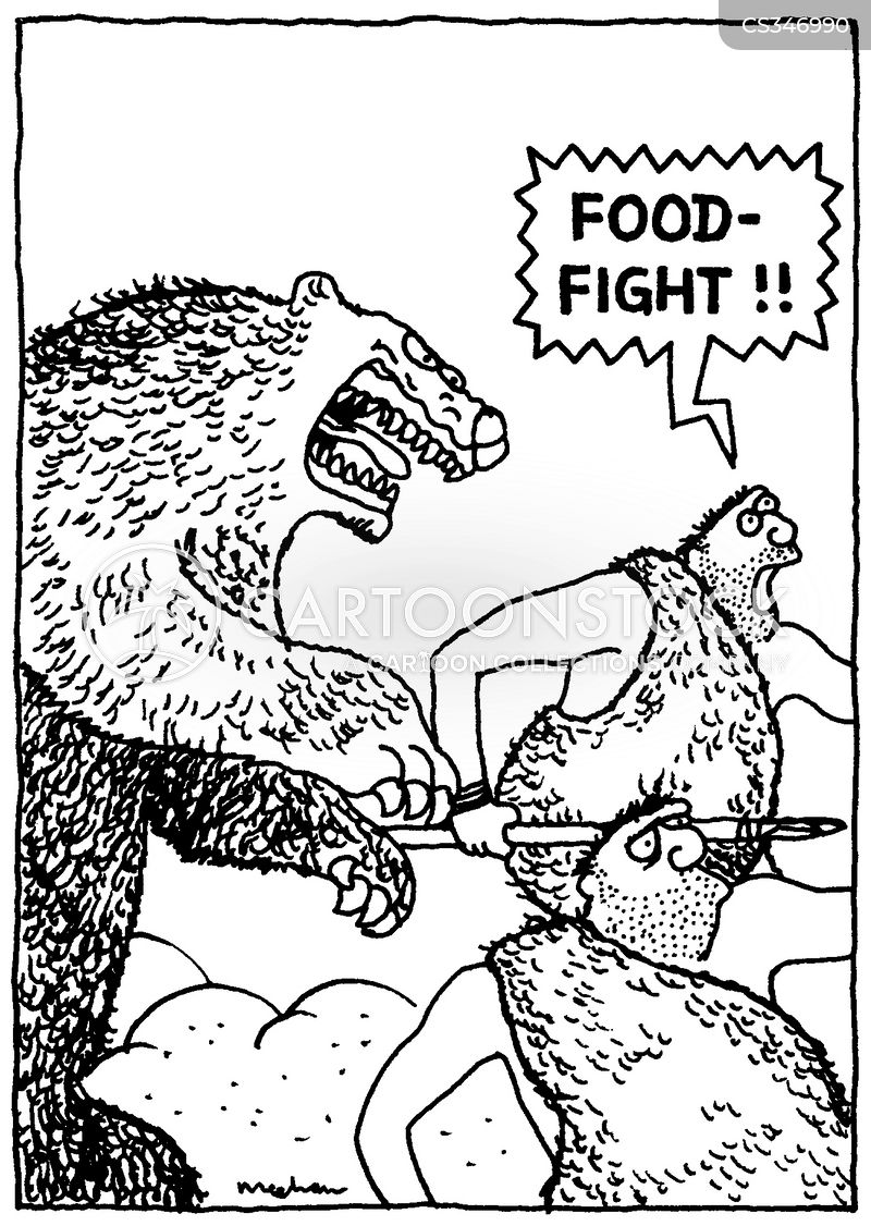 food fight cartoon
