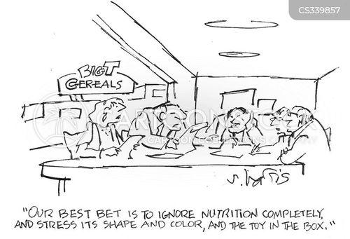 food packaging cartoon