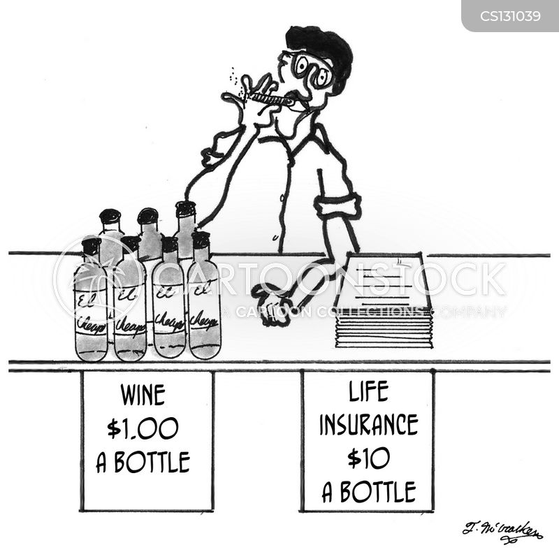 wine sellers cartoon