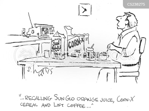 food recalls cartoon