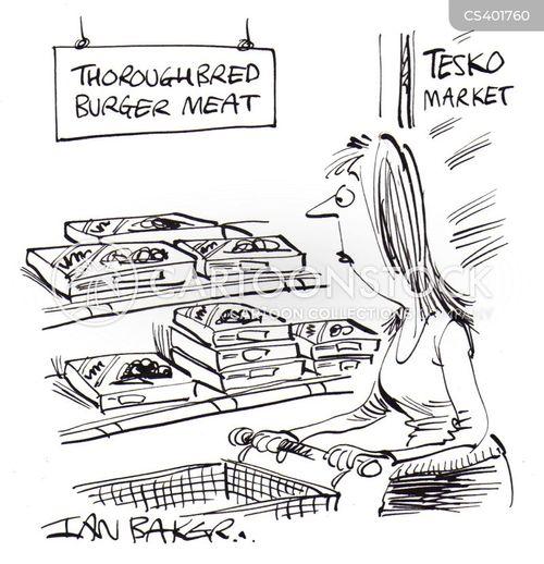 cheap meats cartoon