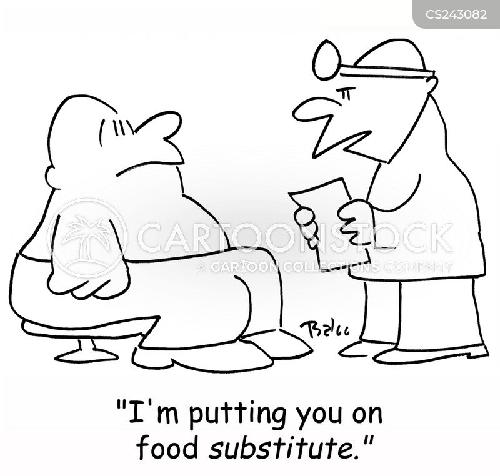 food substitute cartoon
