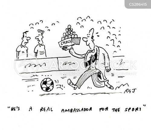 football field cartoon