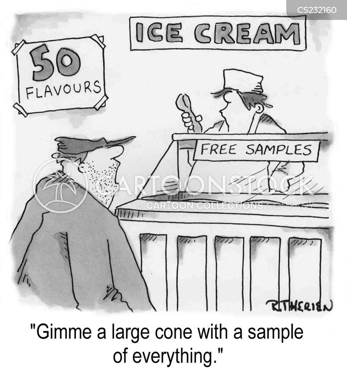 sampling cartoon