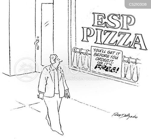 ordering food cartoon