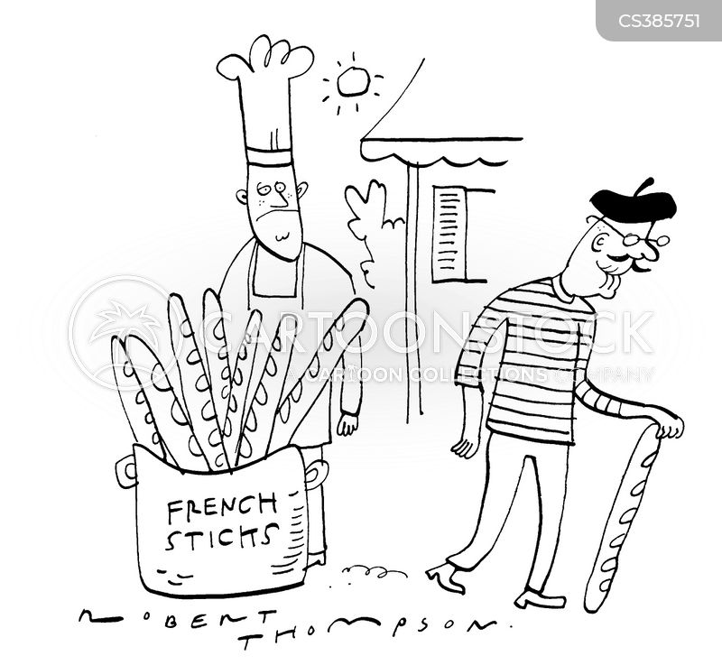 french stick cartoon