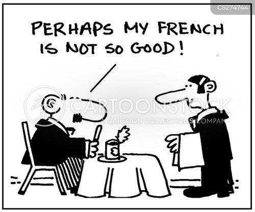speaking french cartoon