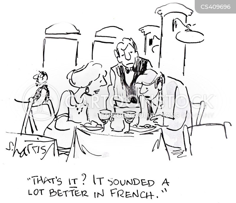 french cuisines cartoon