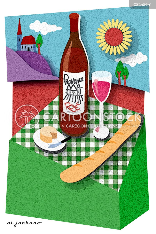 french wine cartoon