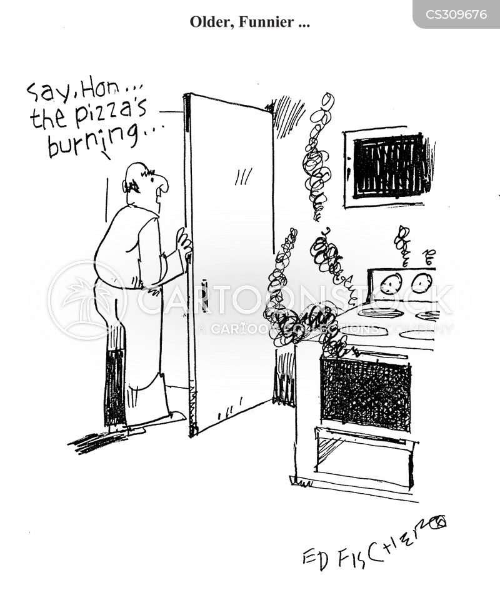 burnt foods cartoon