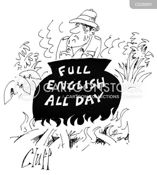 full english cartoon