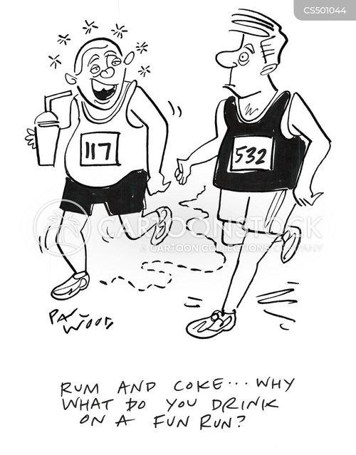charity runs cartoon