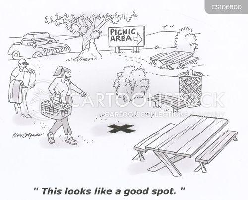 picnic spots cartoon