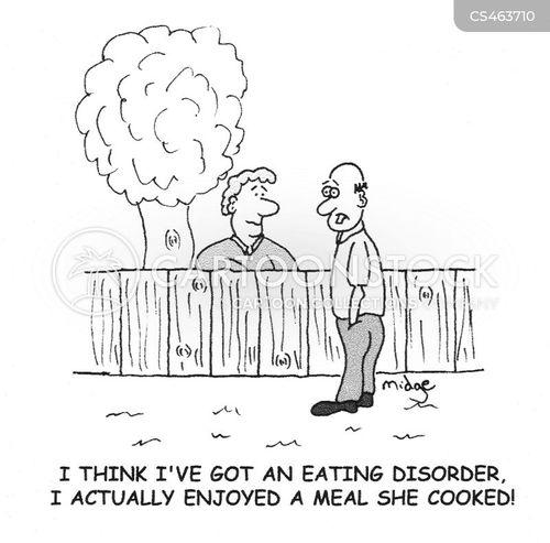 eating problem cartoon