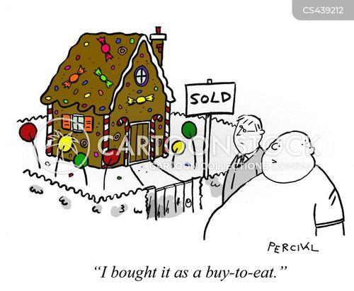 Cartoon Building On Gingerbread House