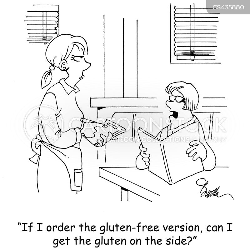 gluten allergies cartoon