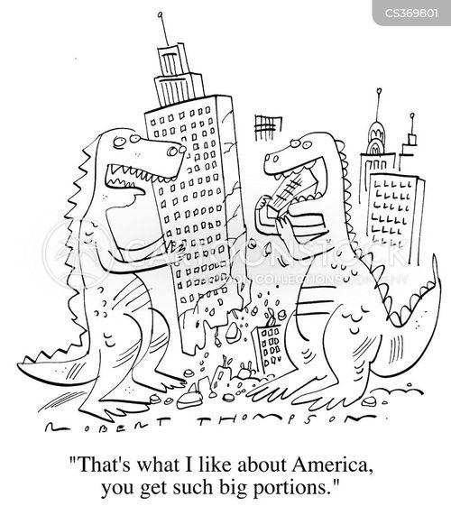 american diner cartoon