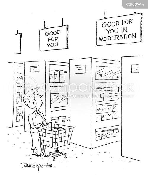 moderation cartoon