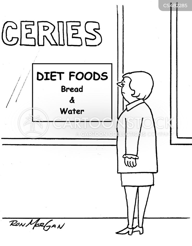 bread and water cartoon