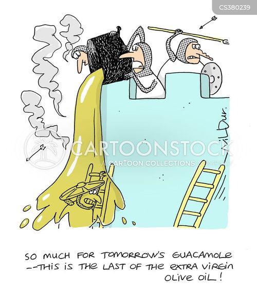 olive oil cartoon